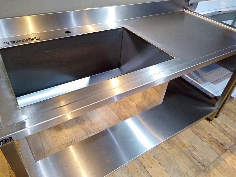 Fábrica de mesas de acero inoxidable y bachas industriales