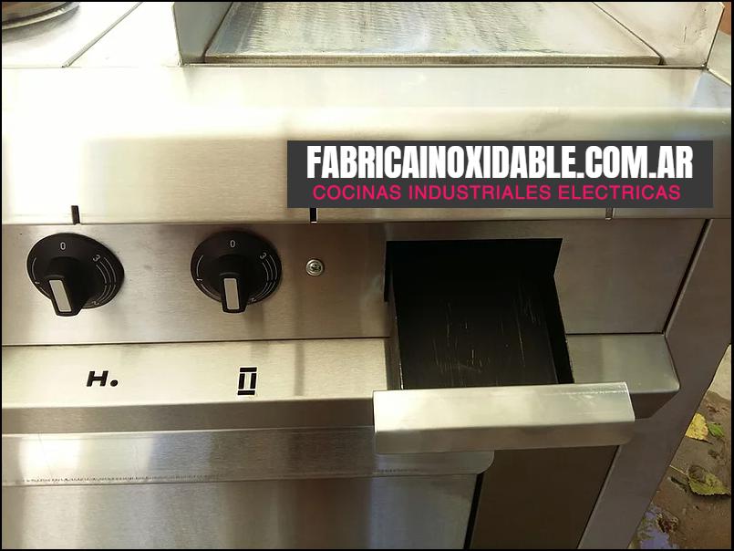 Plancha bifera eléctrica cocina industrial rectificada para gastronomía