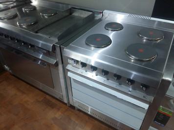 Cocina industrial eléctrica 4 discos acero inoxidable fabricamos a medida
