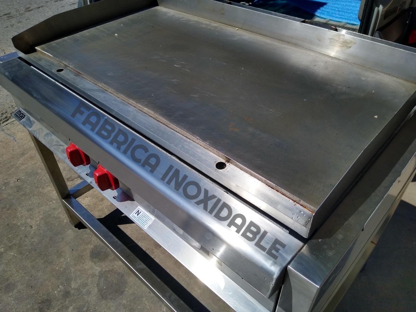 Maquina anafe hamburguesas plancha acero inoxidable rectificada Equipos Burgers