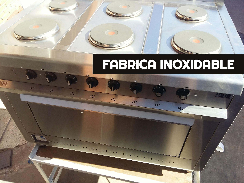 Cocinas electricas industriales de 6 discos con horno resistencias EGO hot plate