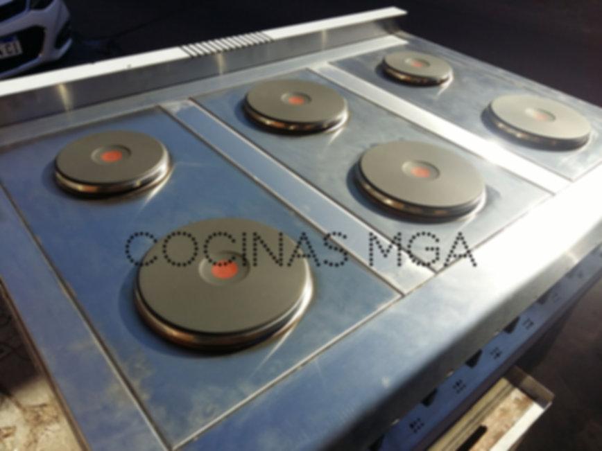 Anafe eléctrico 6 discos alemanes KW ideal para restaurantes trifásico opción con horno industrial