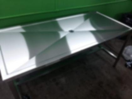 mesada punta diamante acero inoxidable fabrica escurrir descarga central sangre frigorifico liquidos