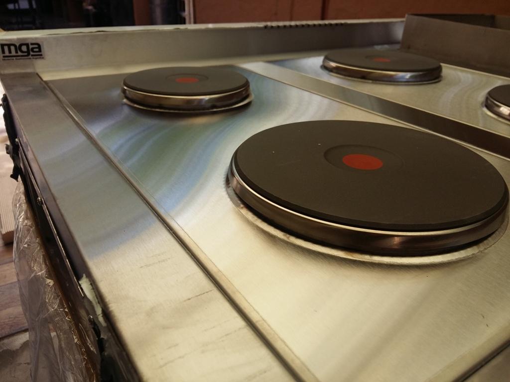 Discos alemanes de cocinas industriales eléctricas MGA