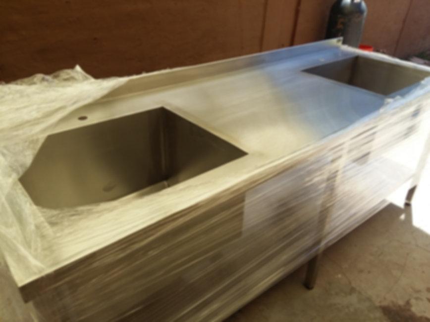Bachas industriales de acero inoxidable profundas con mesadas lisas 304 1.5mm espesor