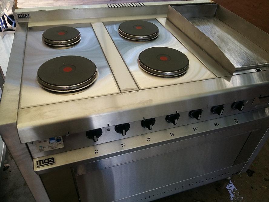 Cocinas industriales eléctricas acero inoxidable plancha horno resistencias