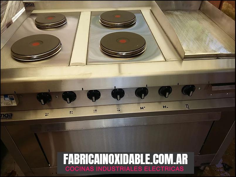 Cocinas industriales eléctricas con plancha bifera fábrica