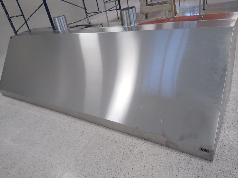 Fábrica de campanas acero inoxidable con filtros motor salida exterior cocina industrial extracción