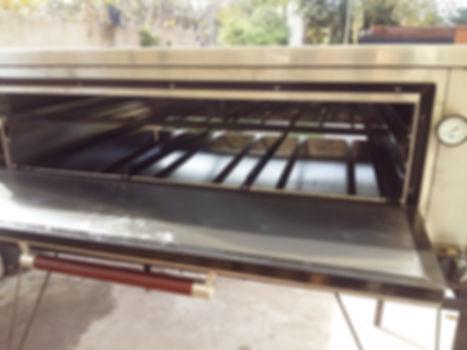 Horno industrial pizzero a la pidra automatico pesado comercial temperatura