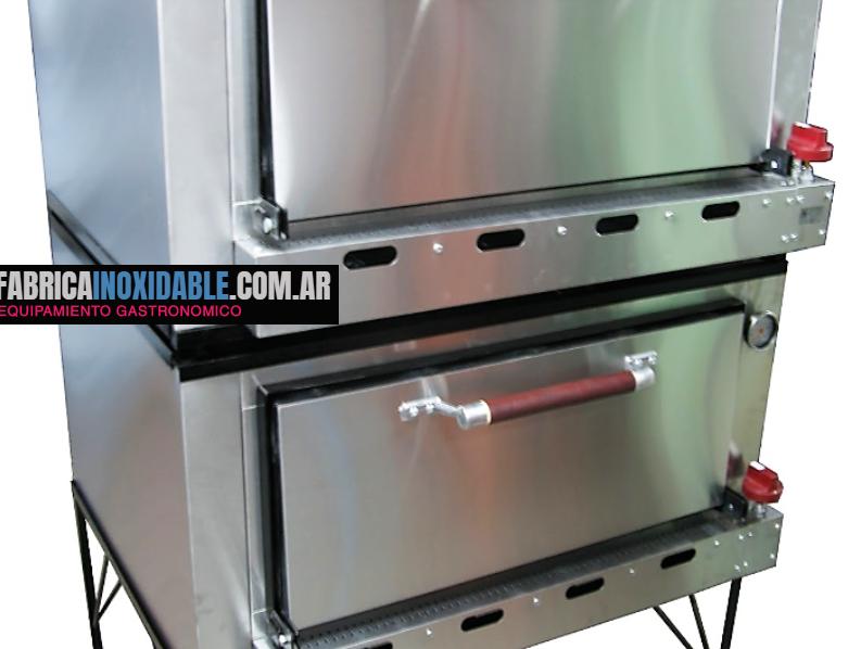 Horno pizzero profesional 24 moldes linea pesada acero inoxidable fábrica