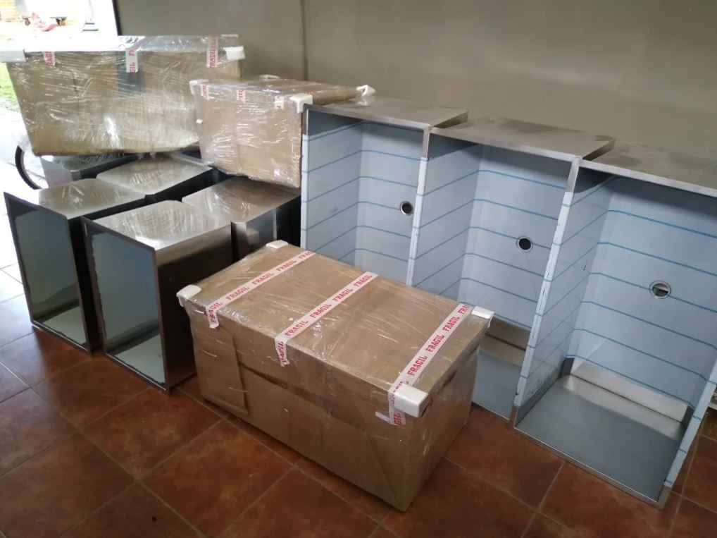 Embalaje bachas envio al interior fabrica inoxidable Ituzaingo