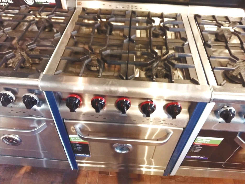 Cocina Morelli Country 600 Industrial apto gas natural o envasado 4 hornallas
