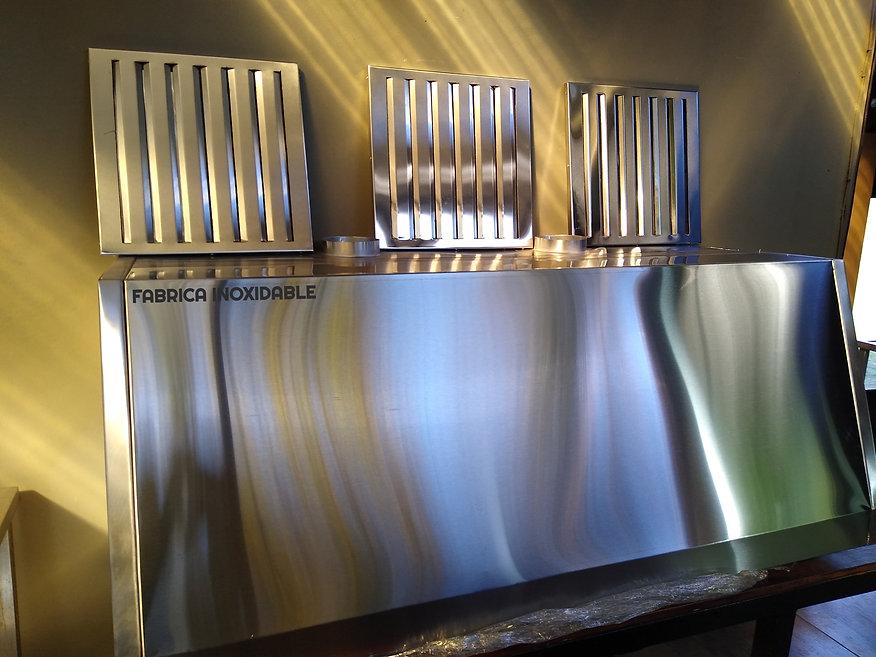 Fábrica de campanas acero inoxidable para gastronomia empresas con filtros