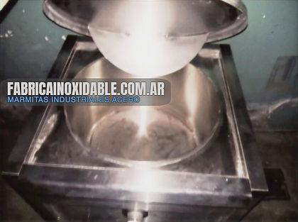 Fábrica de equipos para gastronomía marmitas industriales con mezclador inoxidable MGA www.mueblesparacocina.net