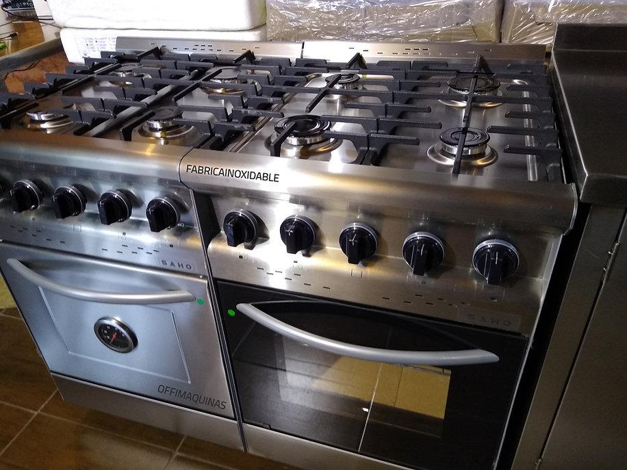Cocinas industriales Morelli Saho economicas 550 visor o acero inoxidable