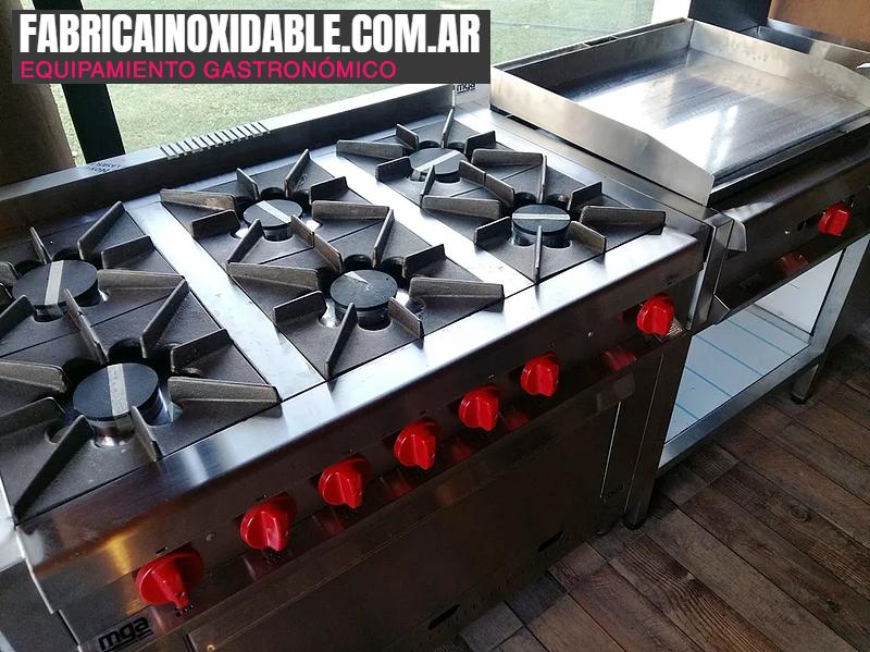 Equipo gastronómico cocina industrial Argentina - www.fabricainoxidable.com.ar