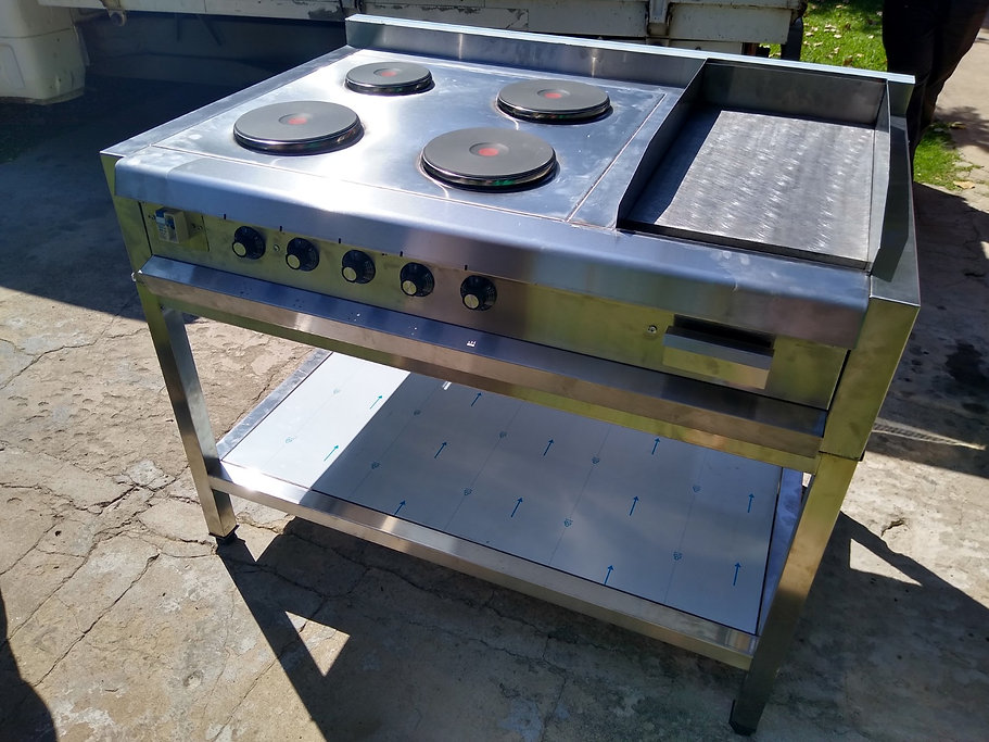 Anafe electrico industrial 4 discos almanes EGO plancha bifera acero inoxidable
