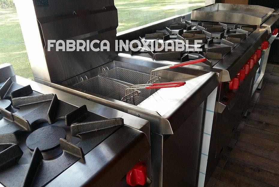 Equipo Inoxidable cocinas industriales anafes freidoras cocinadores de pasta industriales