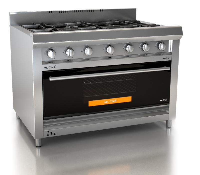 Morelli Mr Chef visor 1100 cocina industrial moderna apto uso comercial www.fabricainoxidable.com.ar