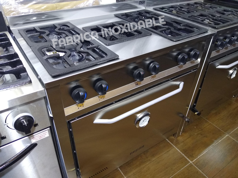 Fábrica inoxidable cocinas industriales hornos pizzeros pasteleros