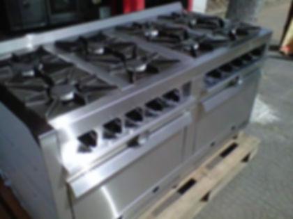 fabrica de cocinas industriales 8 hornallas dos hornos pizzeros para restaurantes o empresas