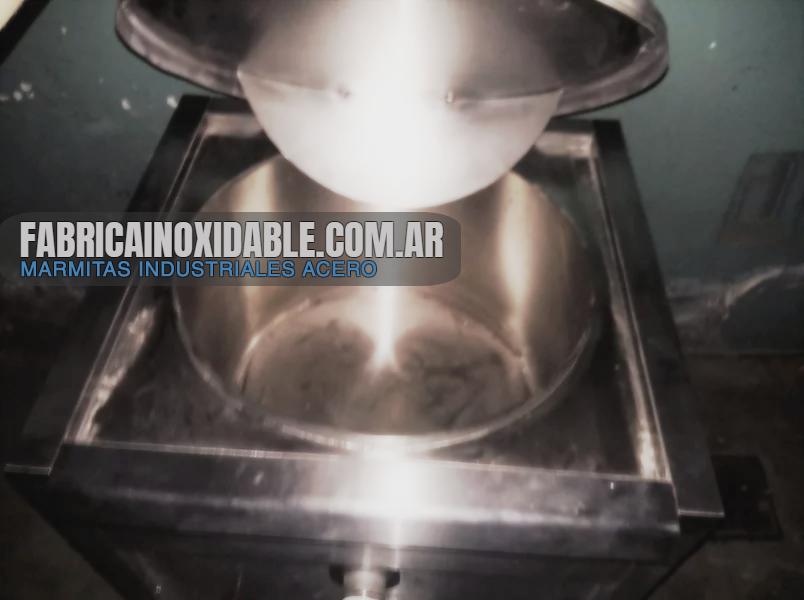 Marmita industrial olla vapor acero inoxidable fábrica gastronómica directa 75 litros