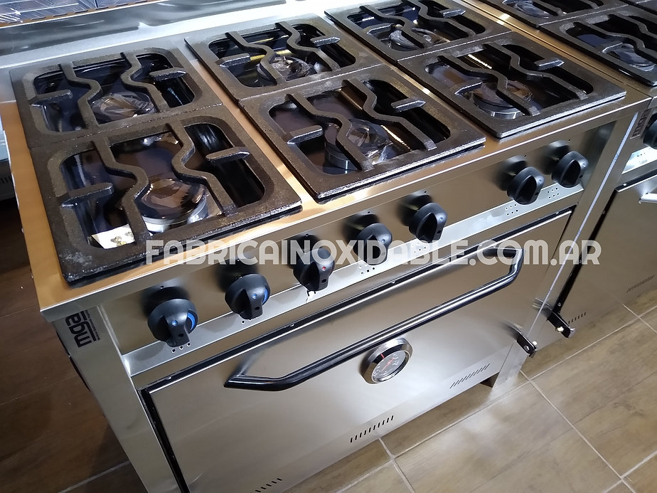 Cocinas industriales acero inoxidable fabrica 6hornallas 90 centimetros