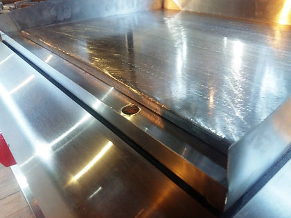 Plancha a gas anafe acero inoxidable rectificado pesado ideal hamburguesas y carnes pescados MGA