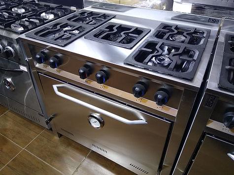 Cocina industrial 90 centimetros 5 hornallas con estrella calorias