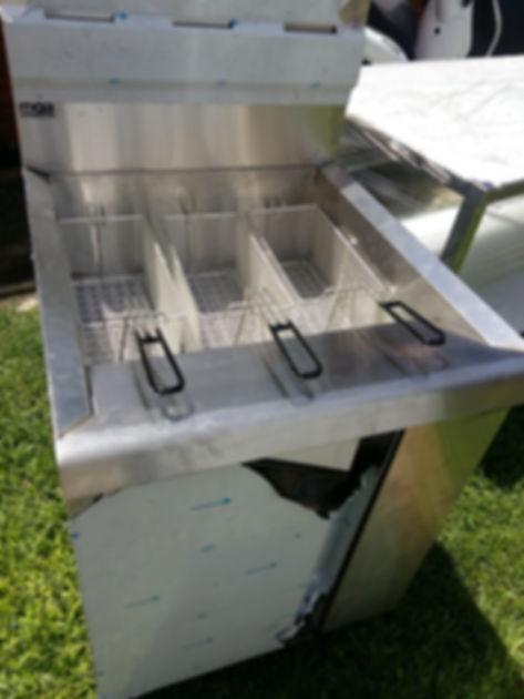 Freidora automatica industrial acero inoxidable control de temperatura 3 canastos minisit