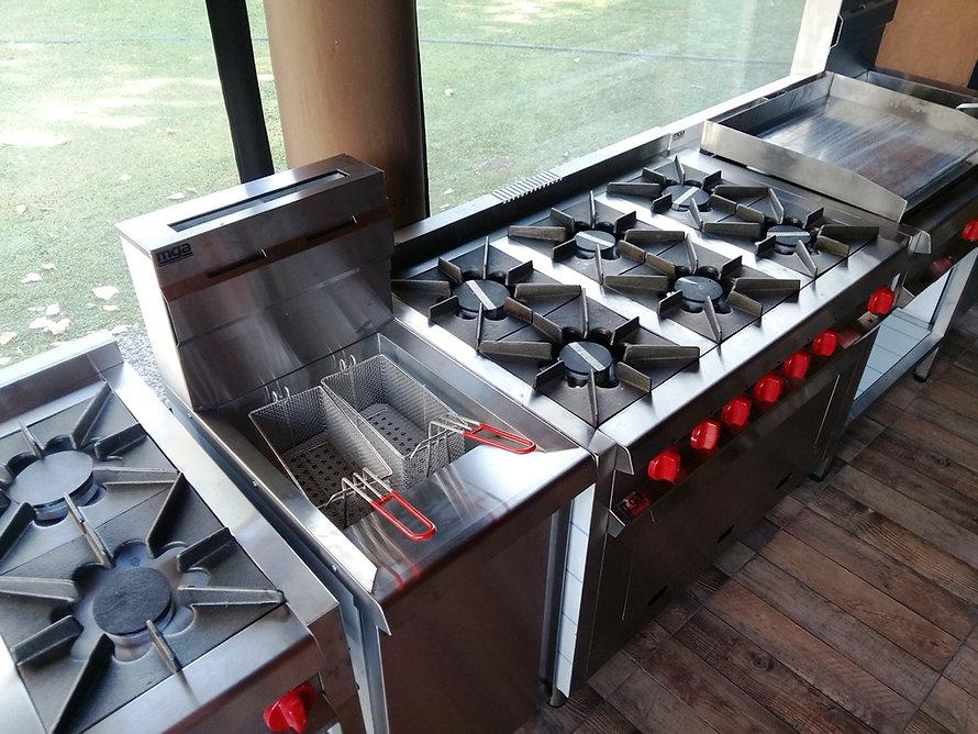 anafe cocina freidora cocinador de pasta industrial inoxidable fabrica Equipo Inoxidable