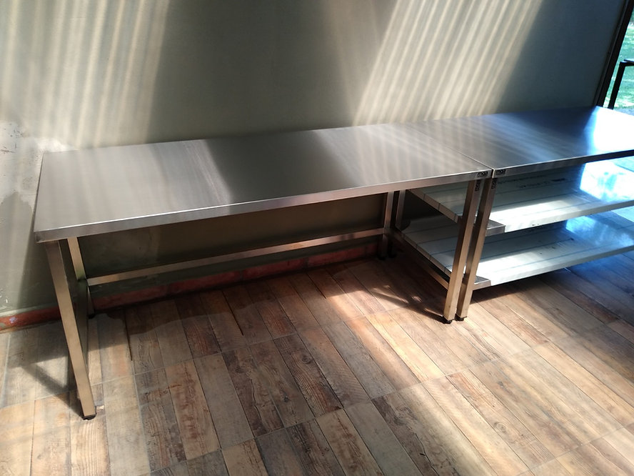 Fábrica de mesadas acero inoxidable sin estante economicas frigorificos