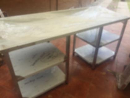 Fábrica de mesas acero inoxidable offimaquinas gastronomia familiar a medida lava vajilla heladera