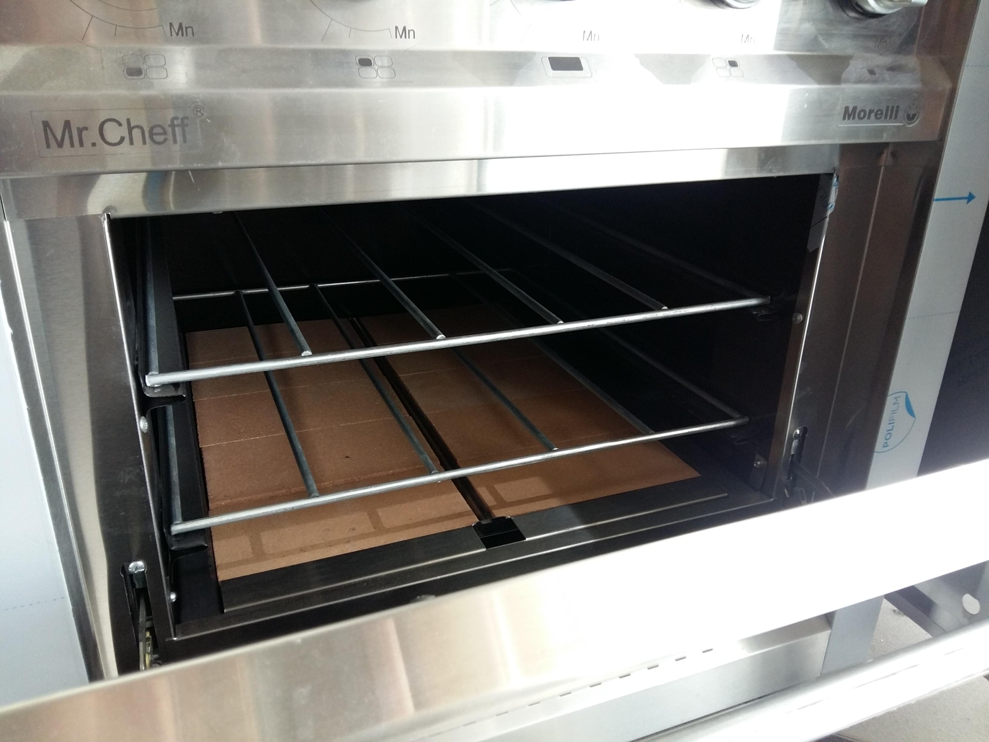 Morelli Mr Chef puerta acero cocina industrial para trabajar 75 centimetros colegios