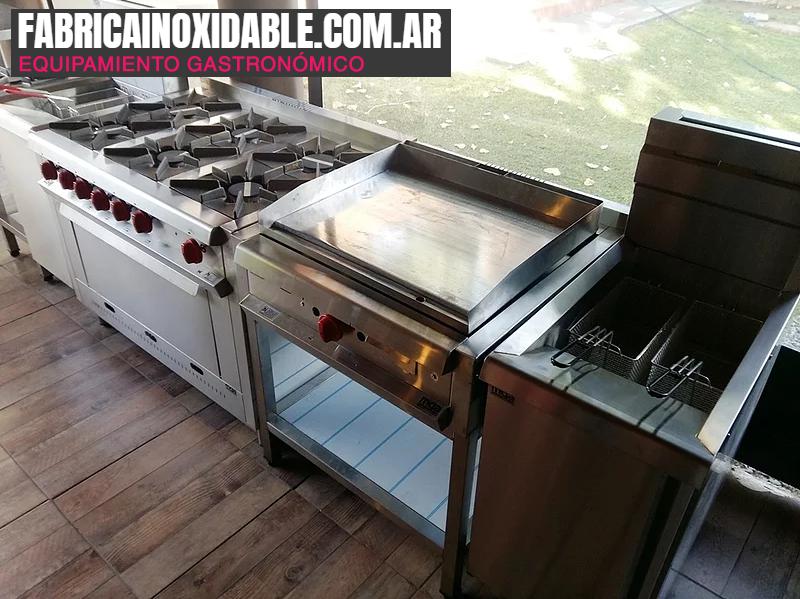 Máquinas para gastronomía cocinas industriales restaurantes nacionales www.fabricainoxidable.com.ar