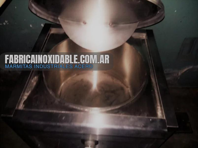 Marmita industrial directa litros capacidad canilla descarga agua vapor sopas carnes comedores personal cocina industrial