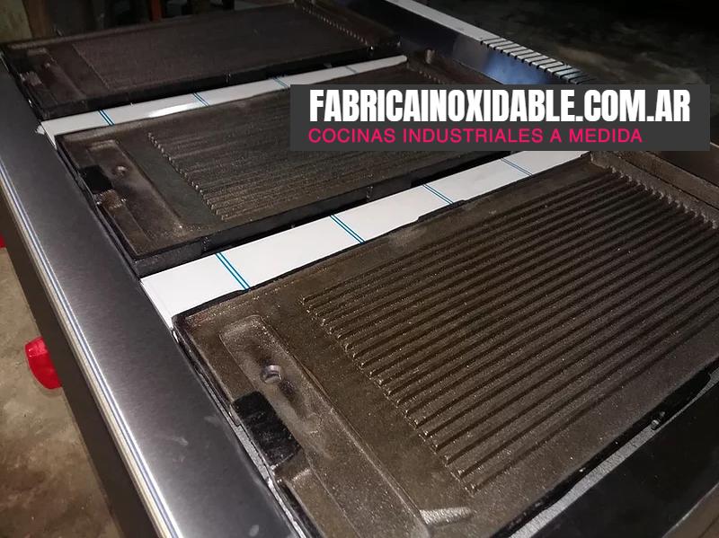 Planchas grill a gas acero inoxidable rayadas de fundición de hierro para restaurantes hoteles y empresas