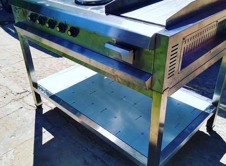 Anafe eléctrico industrial 4 discos y plancha