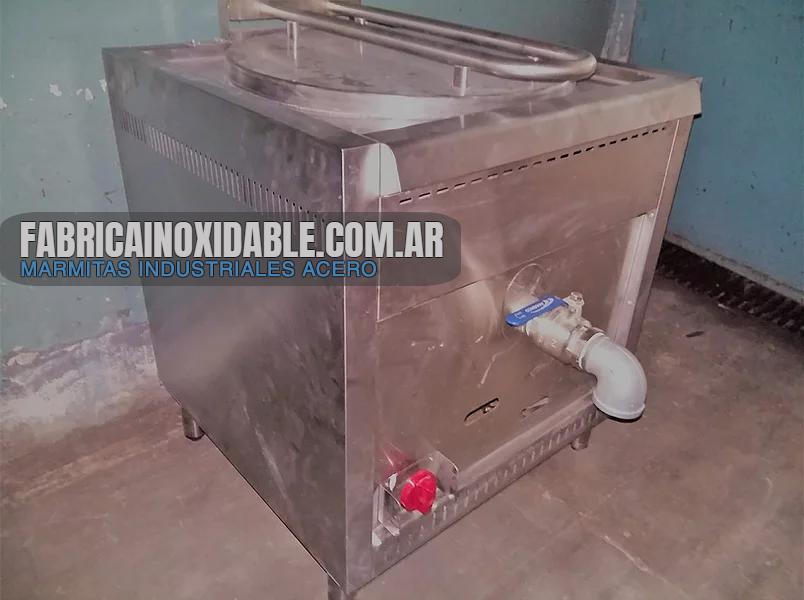 Olla Marmita vapor industrial fábrica Buenos Aires para cocina industrial
