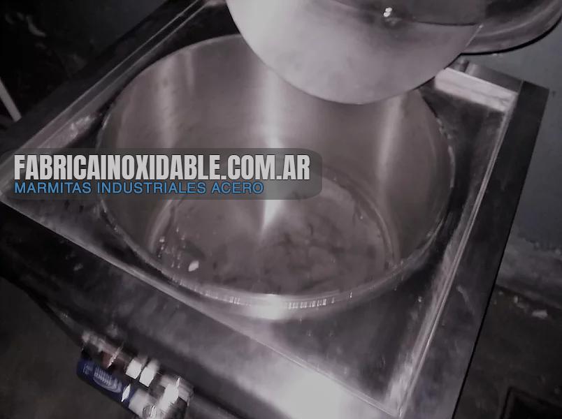 Fábrica de marmitas a gas industriales acero inoxidable Buenos Aires Argentina exportación gas natural o envasador calorias