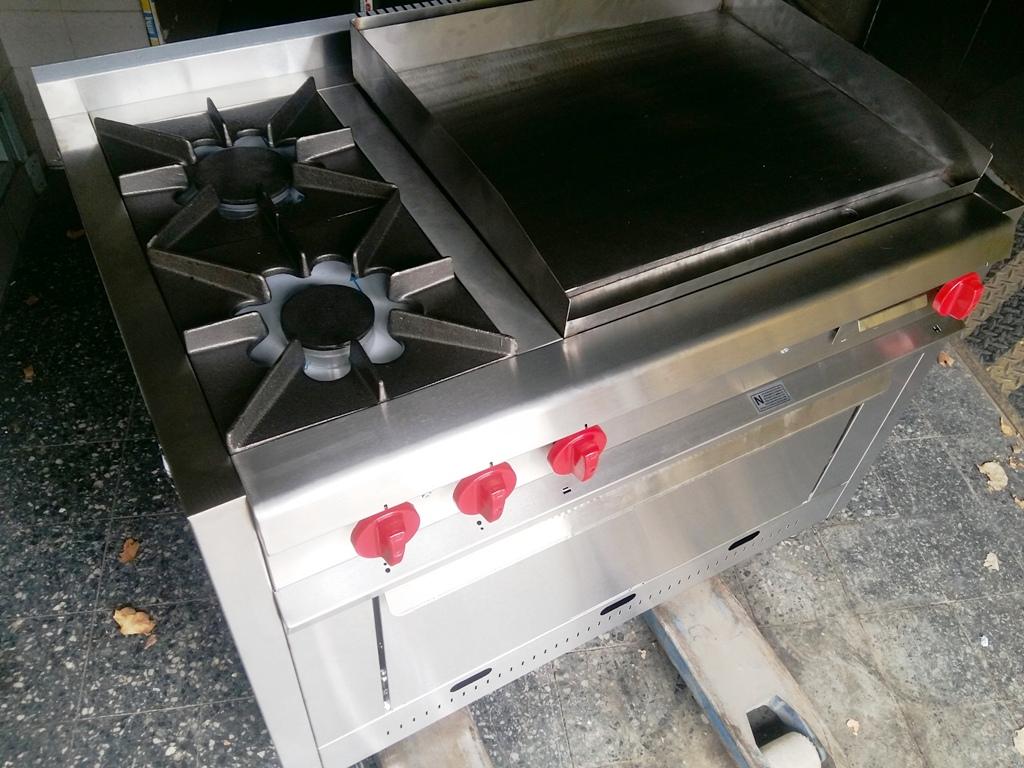 Cocinas industriales a medida hornallas y planchas biferas de acero inoxidable lomitera pescados grill a gas o electrico