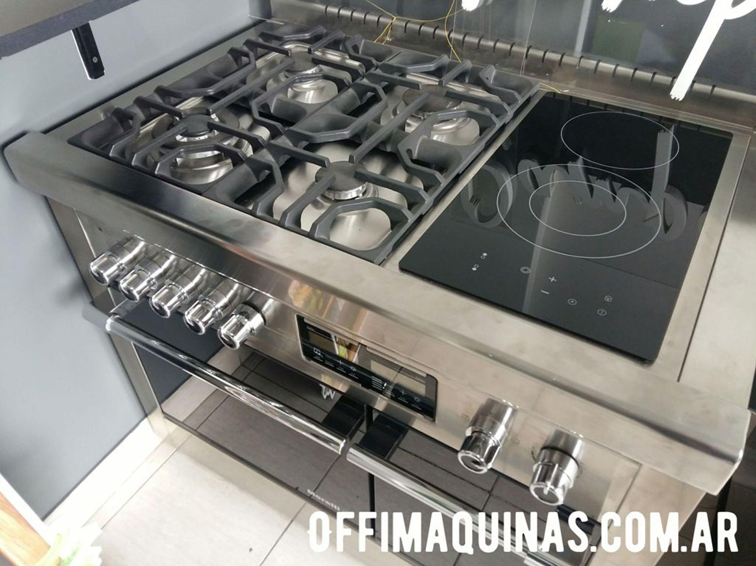 Morelli dupplo cocina electrica y gas moderna familiar www.fabricainoxidable.com.ar