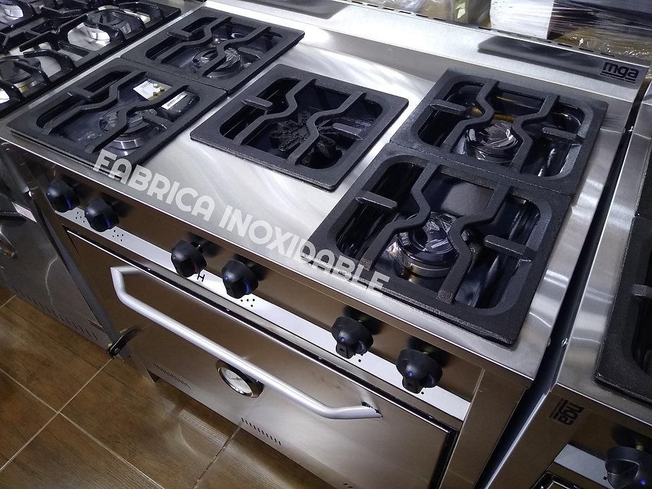 Cocinas industriales 5 hornallas horno pizzero lechonero ladrillos refractarios
