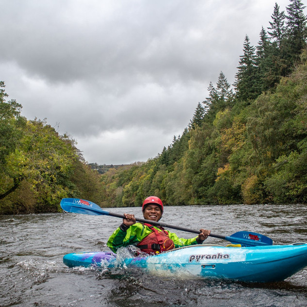 Whitewater Kayaking In Wild North Wales