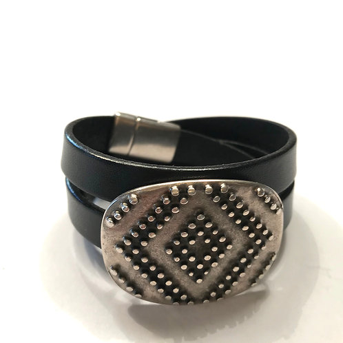 10mm Black Triple Wrap with Buckle