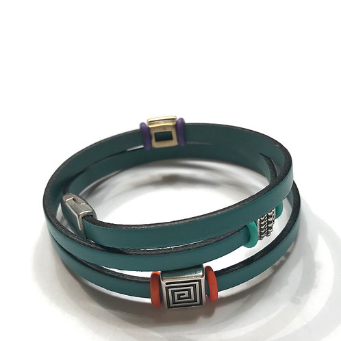 Turquoise Triple Tier with Multi Spacers