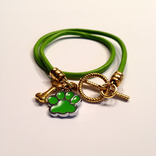 Pistachio Double Wrap Toggle with Charms