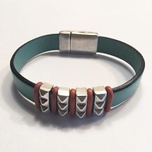 10MM TURQUOISE LEATHER