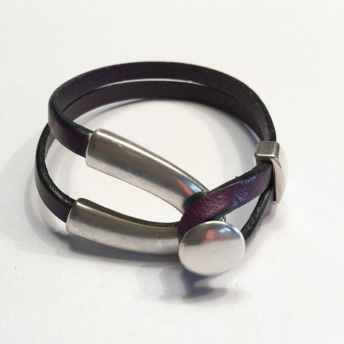 Purple with Silver Wishbone
