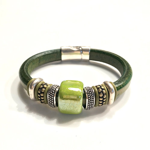 Olive Regaliz with PistachioCeramic Bead and Spacers